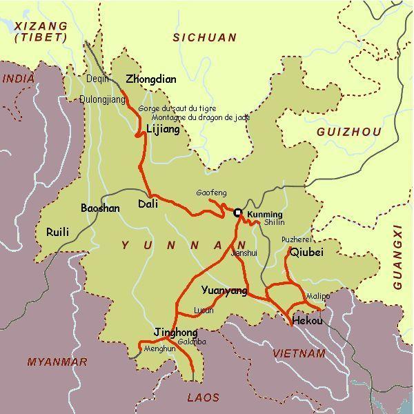 Carte Du Monde Yunnan.Notes